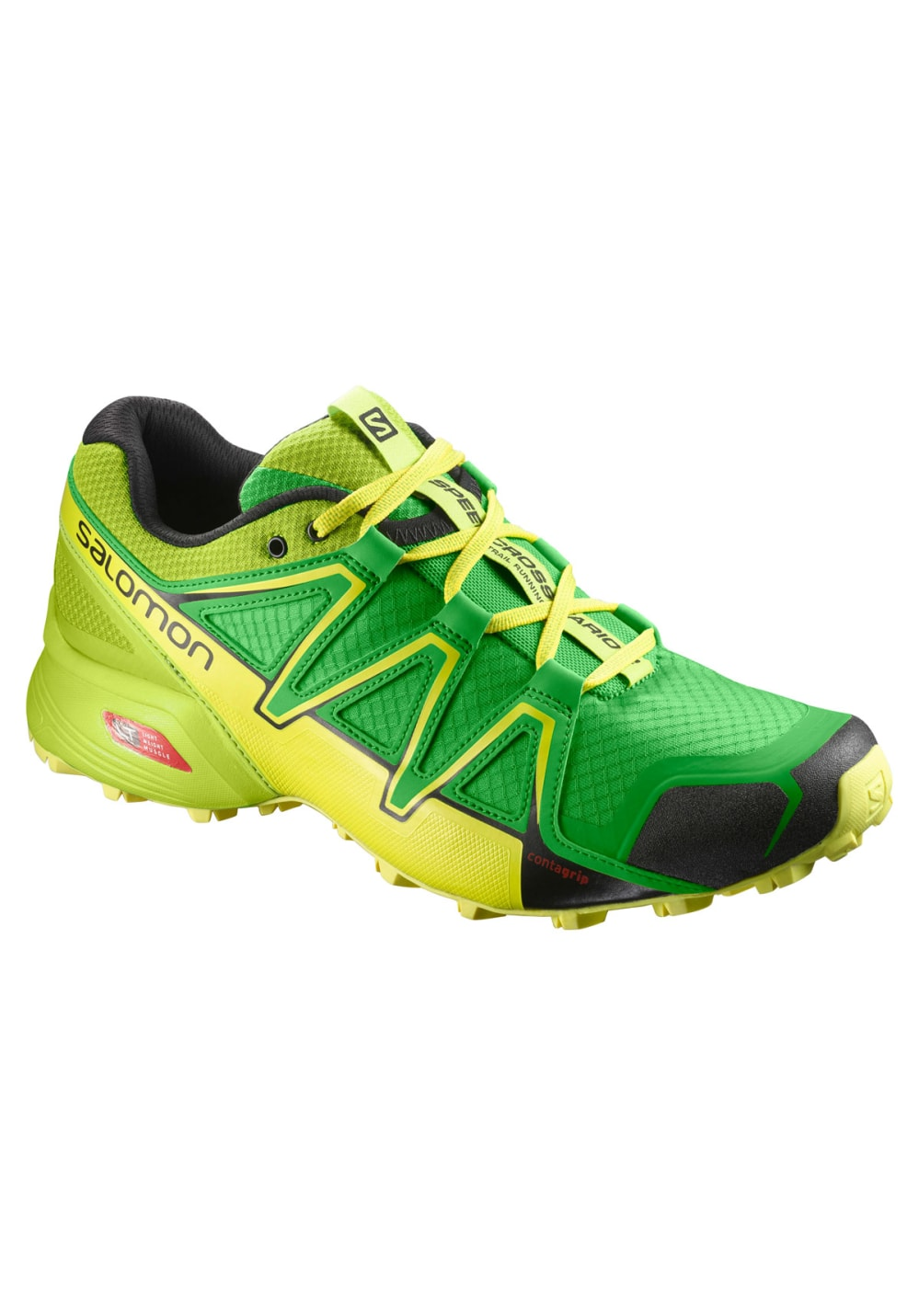 salomon speedcross vario 2 running shoes for men green 21run. Black Bedroom Furniture Sets. Home Design Ideas