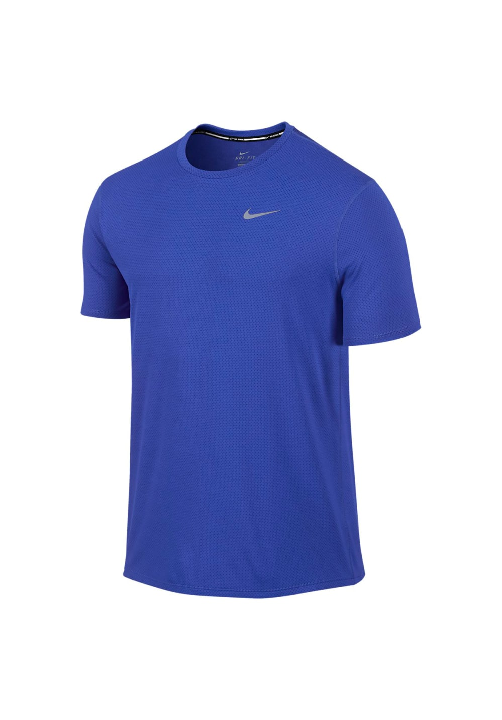 Nike Dri Fit Contour Short Sleeve Running tops for Men Blue