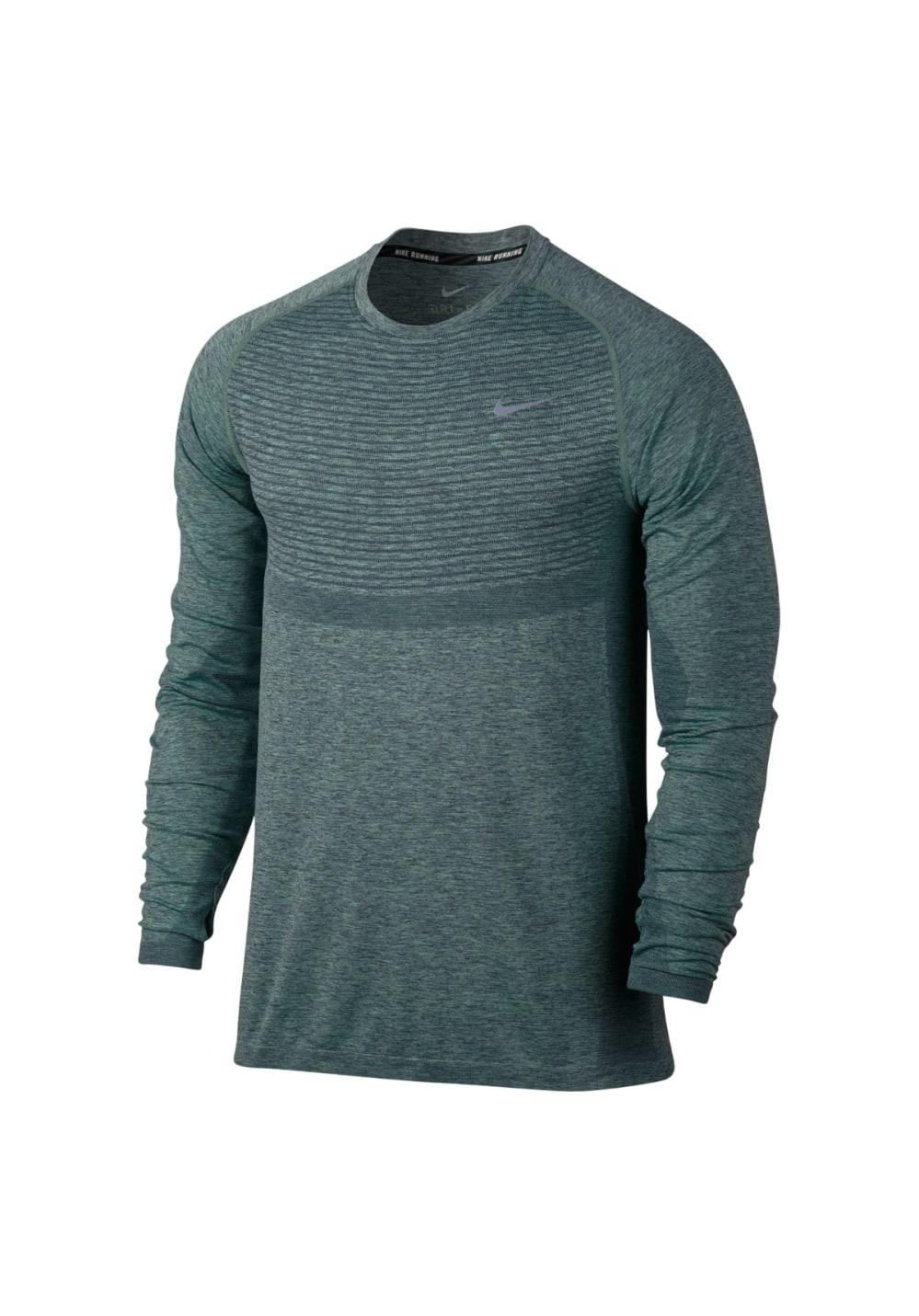 Nike Dri FIT Knit Running Top Laufshirts für Herren Grau
