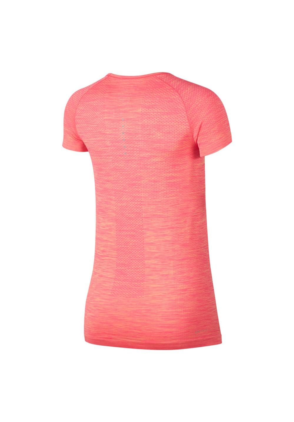 nueva productos última moda selección asombrosa Nike Dri-Fit Knit Tee - Camisetas de running para Mujer - Rojo