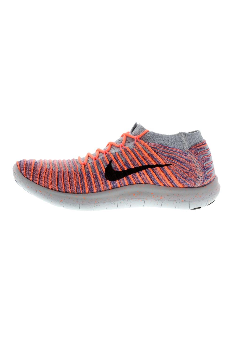 Nike Free RN Motion Flyknit Laufschuhe für Damen Grau