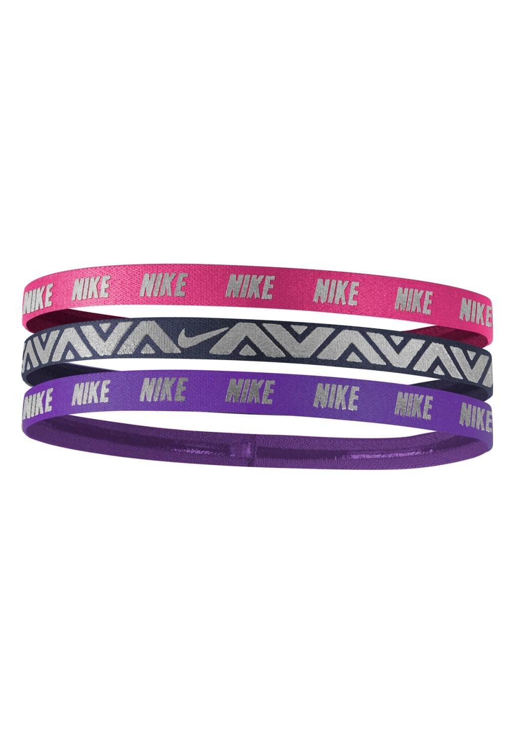 6ac7b84dcd50a Nike Metallic Hairbands 3 Pack - Headdress - Purple