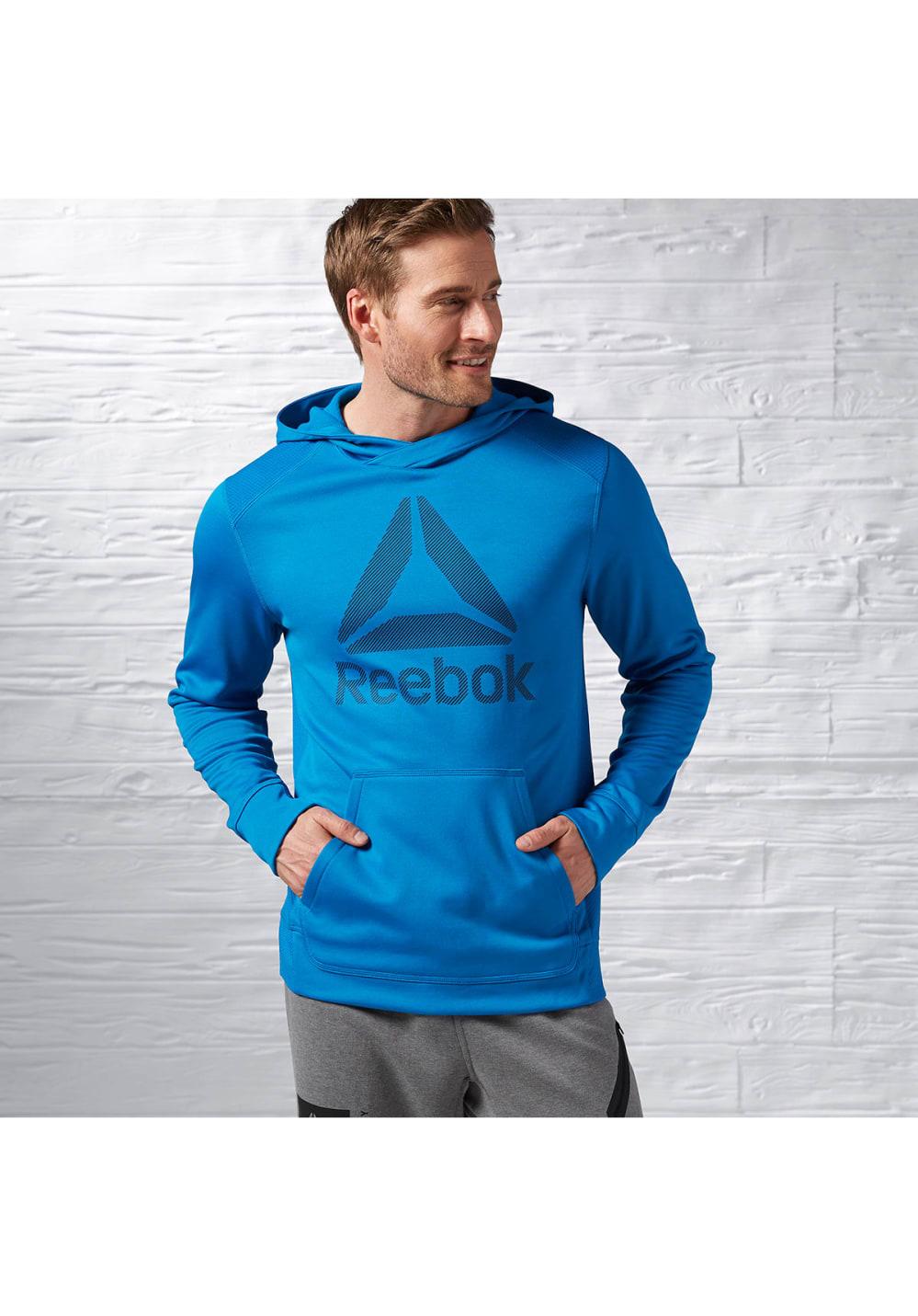 Reebok Workout Ready Warm Poly Fleece Sweats Pulls pour Homme Bleu