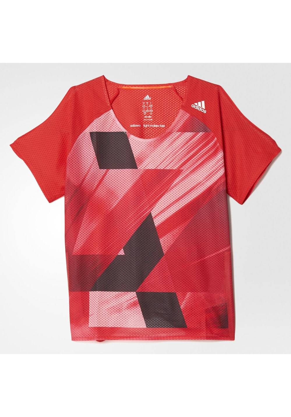 af419a53517e3 adidas adizero Short Sleeve - Running tops for Women - Red