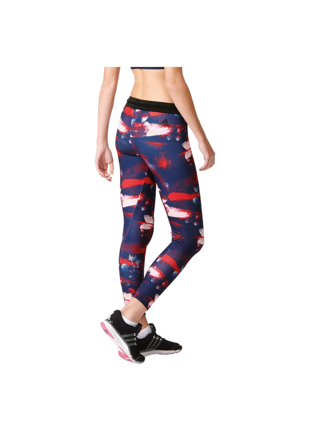 adidas Flower Tight Pantalons course pour Femme Bleu