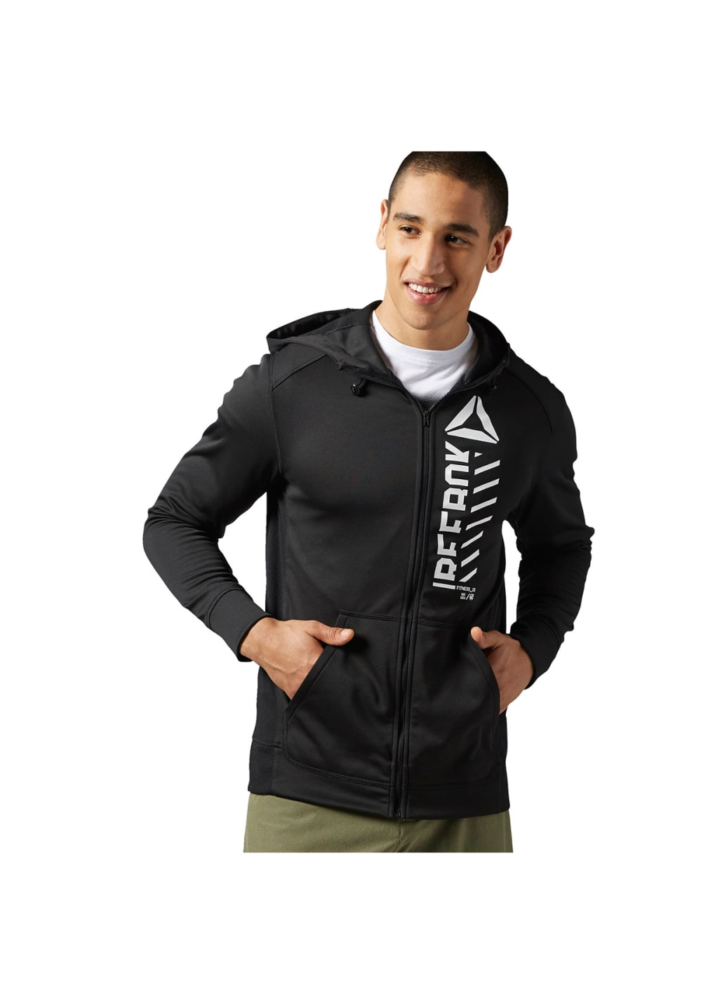 ea705728fc Reebok Workout Ready Warm Poly Fleece Fullzip - Sweatshirts / Hoodies for  Men - Black