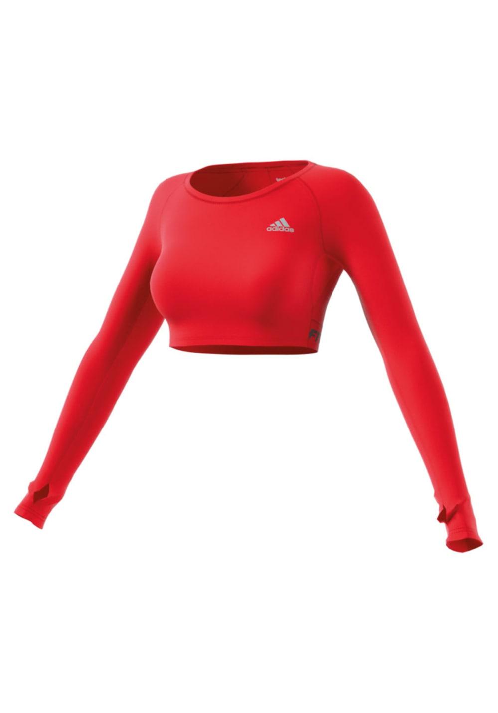 4dfc5b8f679e2 adidas Tf Crop Top - Running tops for Women - Red