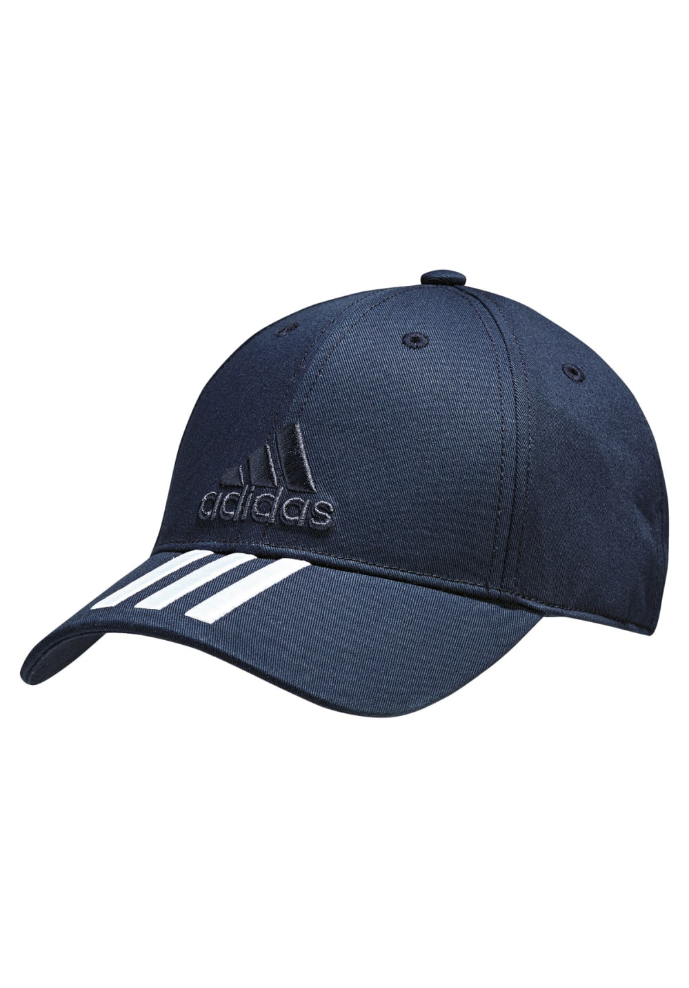 cf381e29 adidas 6 Panel Classic Cap 3 Stripes Cotton - Headdress - Black | 21RUN