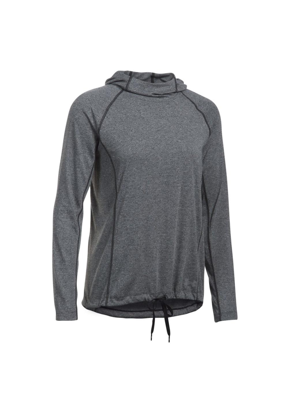 Under Armour Threadborne Train Hood Twist Sweatshirts Hoodies for Women Grey