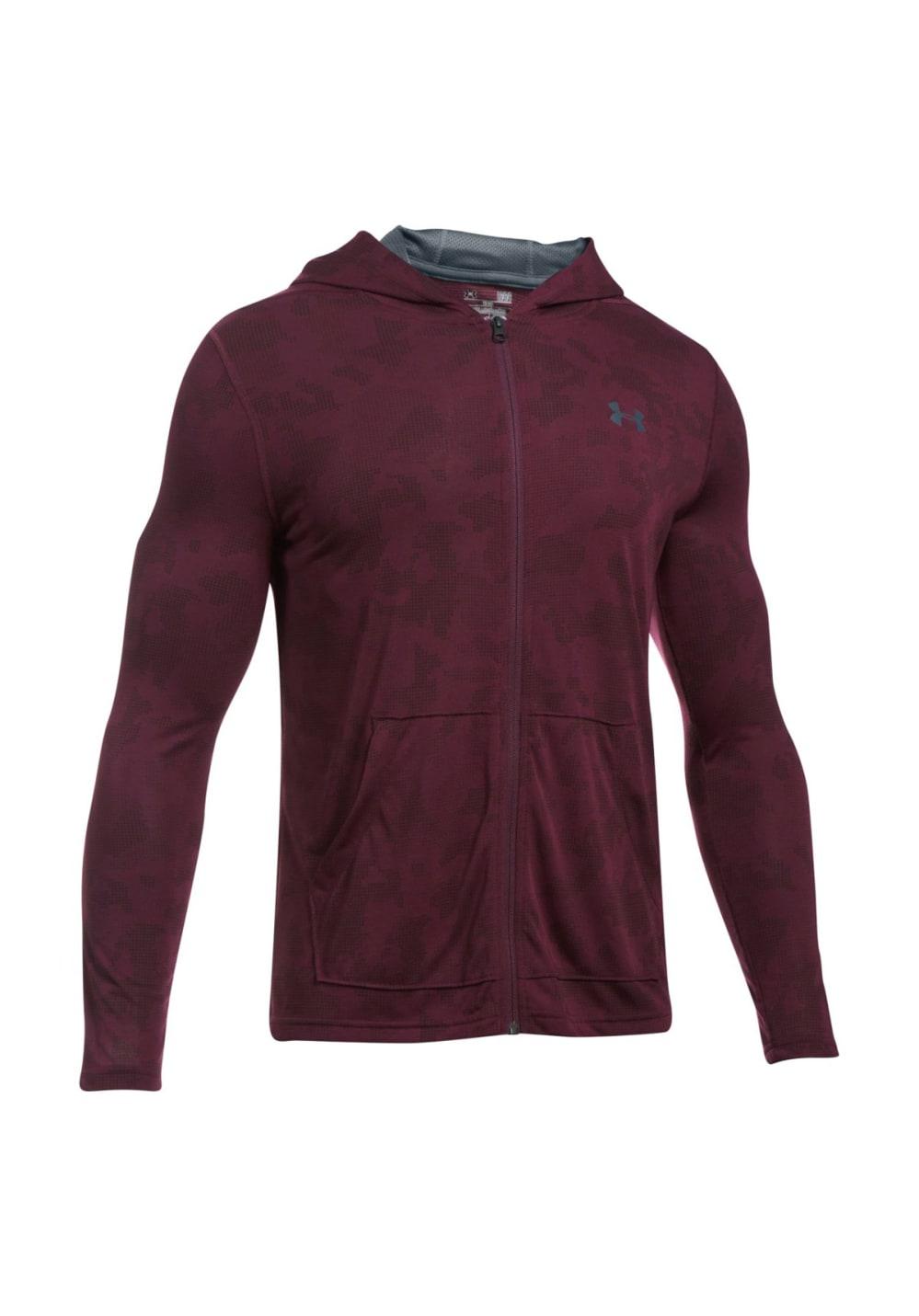 50591c2aba Under Armour Threadborne Fitted Full Zip Hoodie - Sweatshirts / Hoodies for  Men - Red