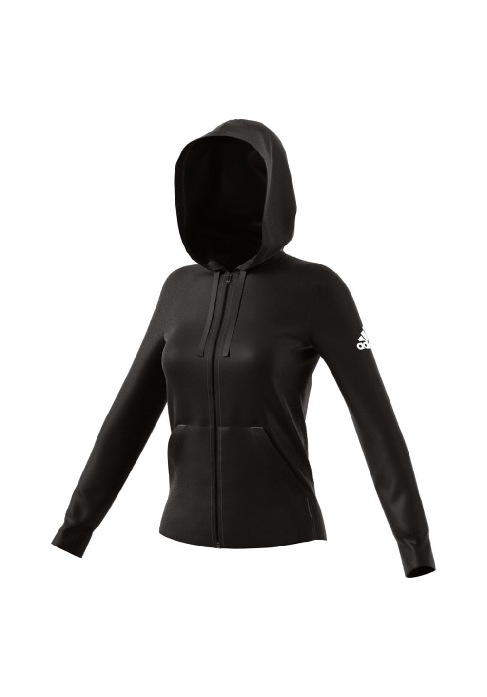 adidas Essentials Solid Fullzip Hoodie Sweatshirts Hoodies for Women Black