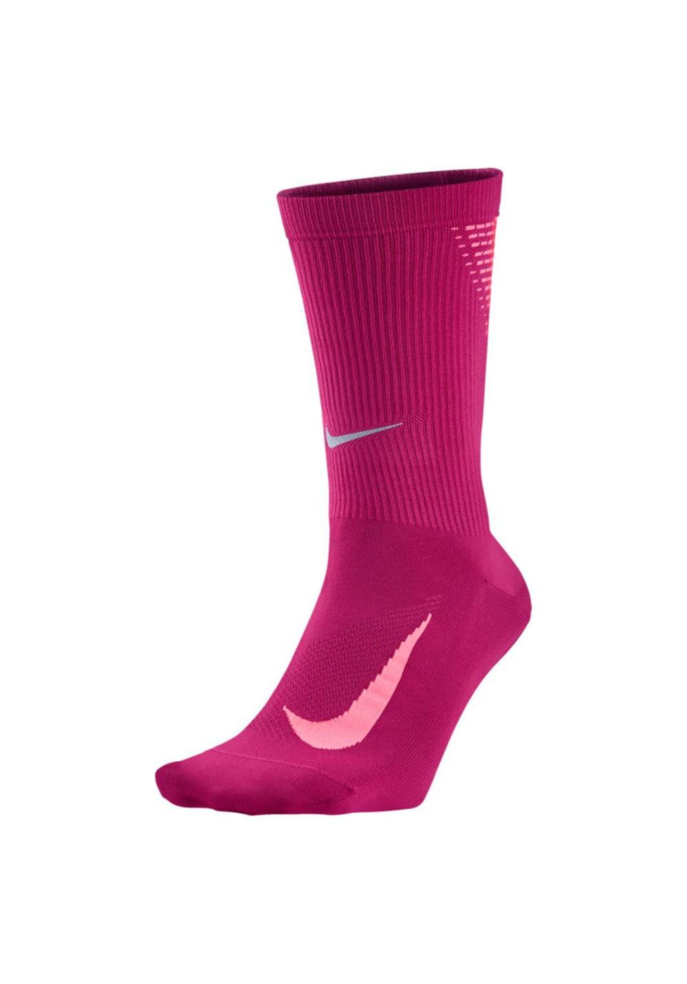 code promo 2bb73 d1d91 Nike Elite Lightweight Crew Running Socks - Chaussettes running - Rose