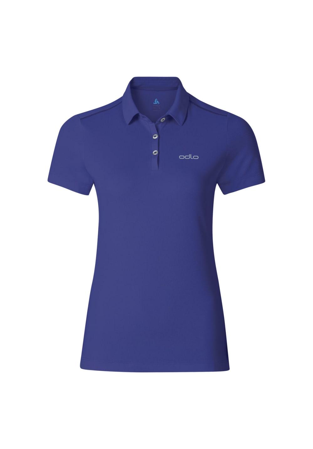 0f841d59a Odlo Polo Shirt Short Sleeve Tina - Running tops for Women - Blue ...