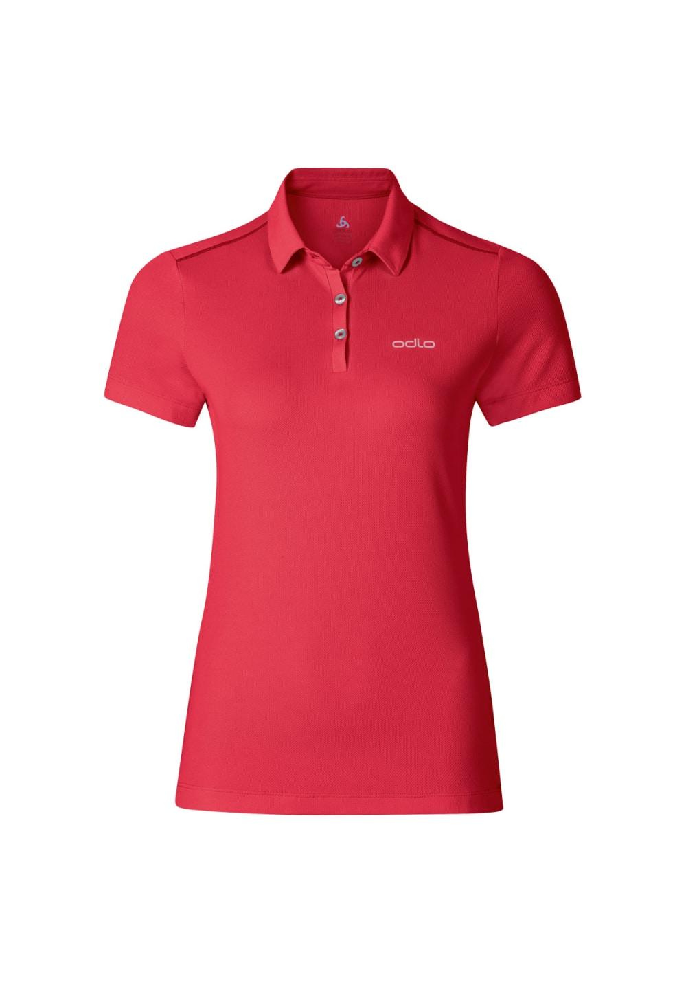 10b0de8614c768 Odlo Polo Shirt Short Sleeve Tina - Laufshirts für Damen - Rot
