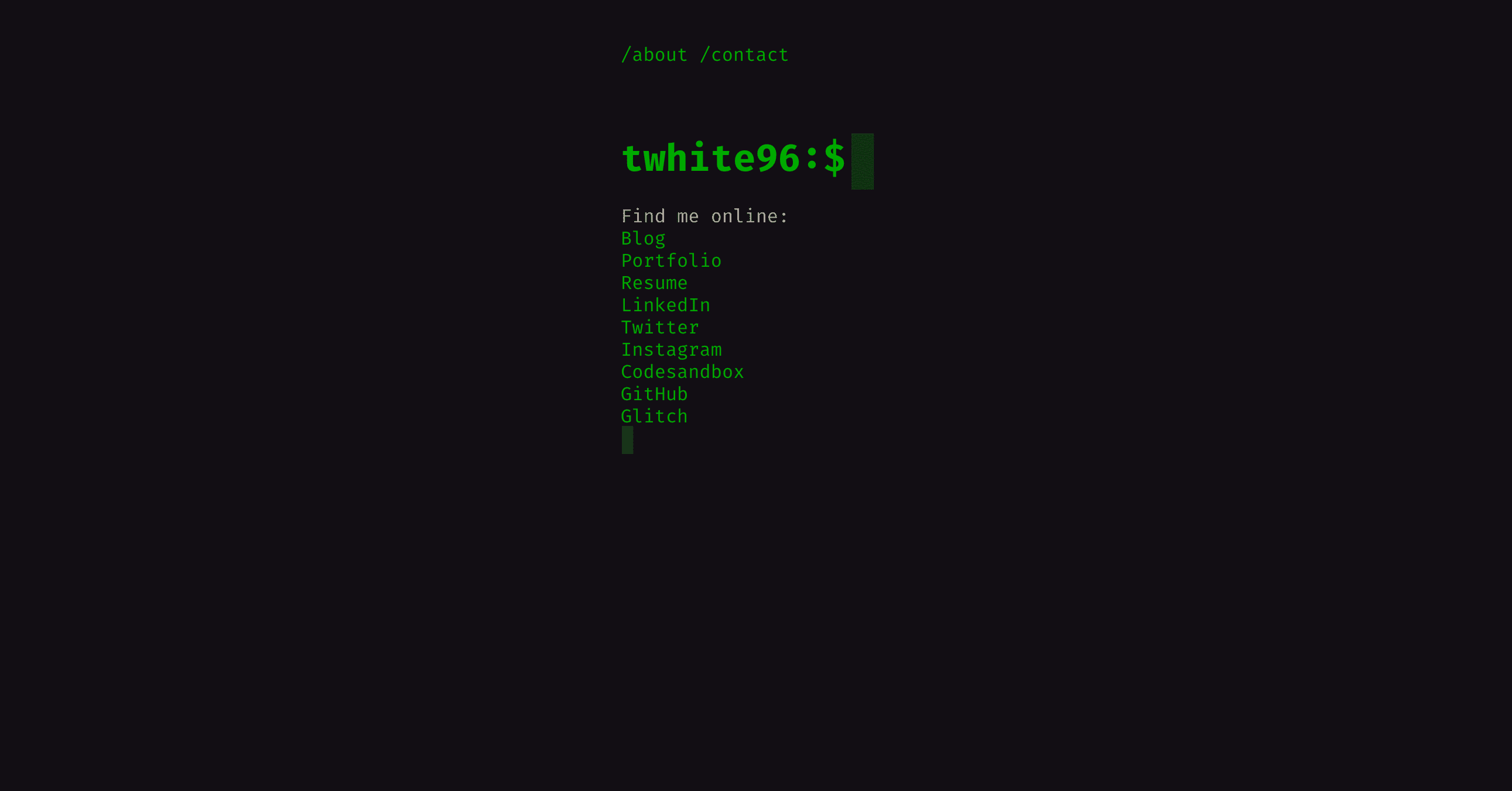 A Simple Terminal Website with CSS and Typewriter.js