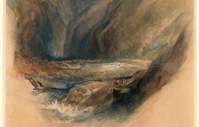 Detail from the Pass of St Gottard by John Ruskin