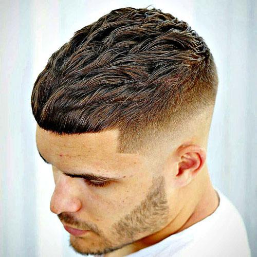 Kiểu tóc Textured Brush up