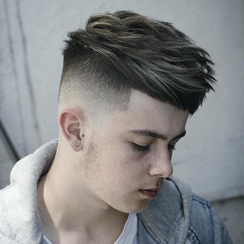 Kiểu tóc Thick Crop + Drop Fade