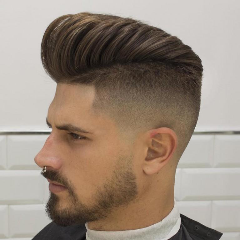 Kiểu tóc vuốt ngược + cắt sát hai bên