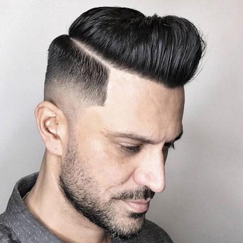 kiểu tóc Comb Over + Fade