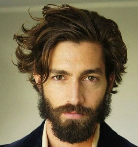 Kiểu tóc quiff cho nam tóc dài