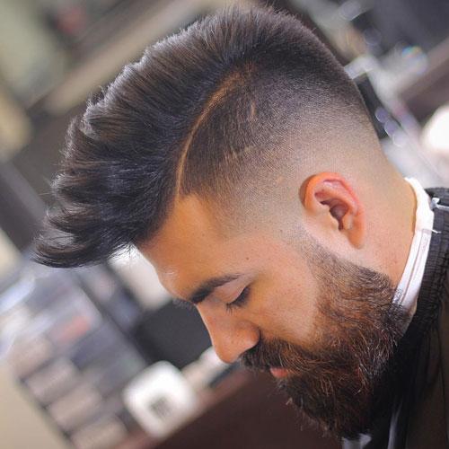 Kiểu tóc Temple Fade Mohawk