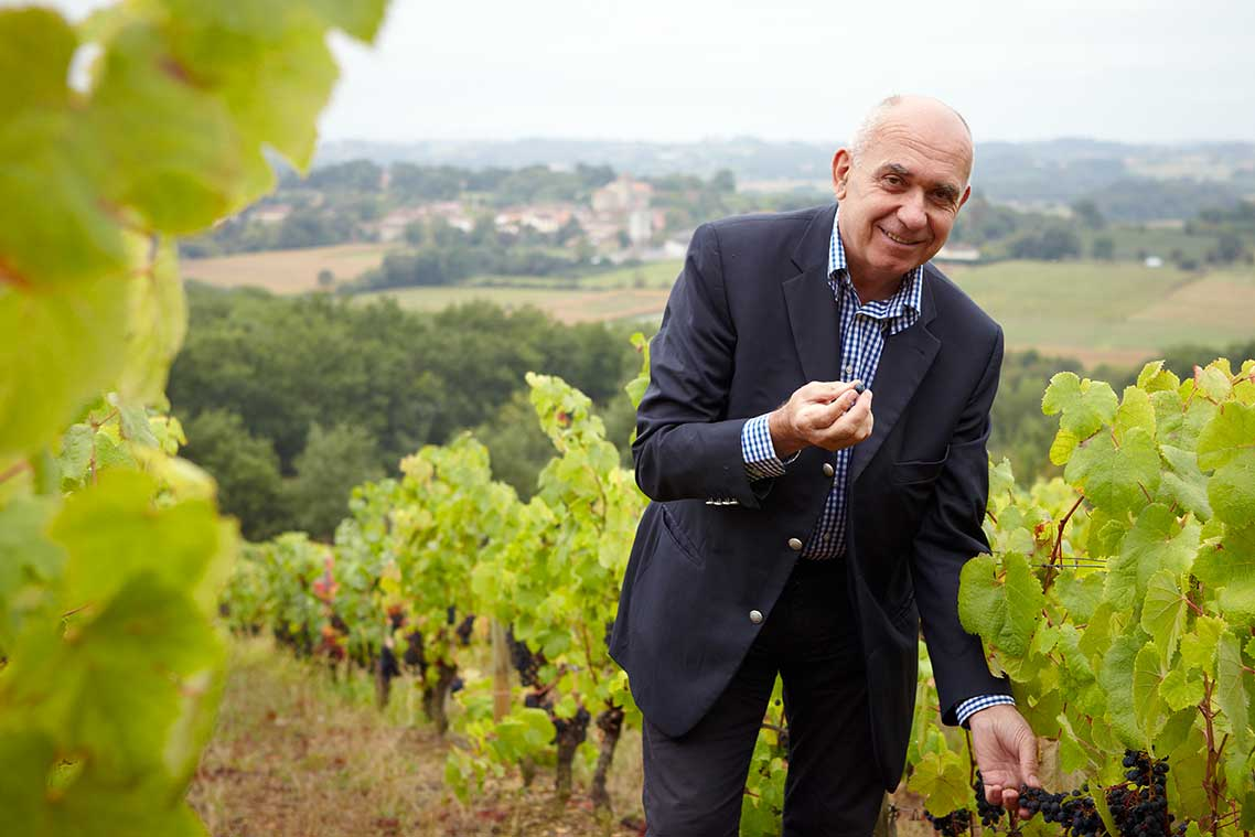 Alain Brumont created the Grand Vin in Madiran, winning in blind tastings against the good and the great of Bordeaux