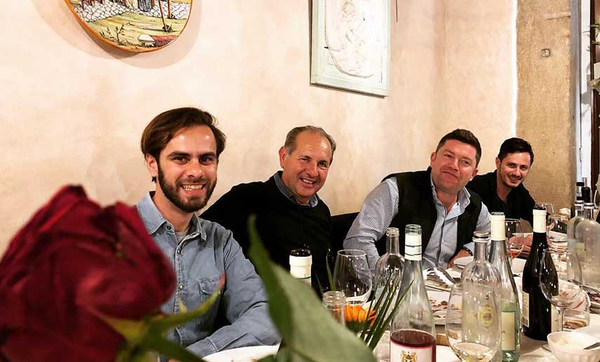 Dinner with Rocco Pasetti and sons on the 1st night of VinItaly