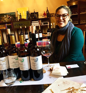 Nadia Curto's small village in Barolo was badly affected by the virus
