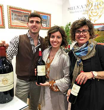 The Bolmidas stand - Suppliers of The Wine Society's Exhibition Barolo