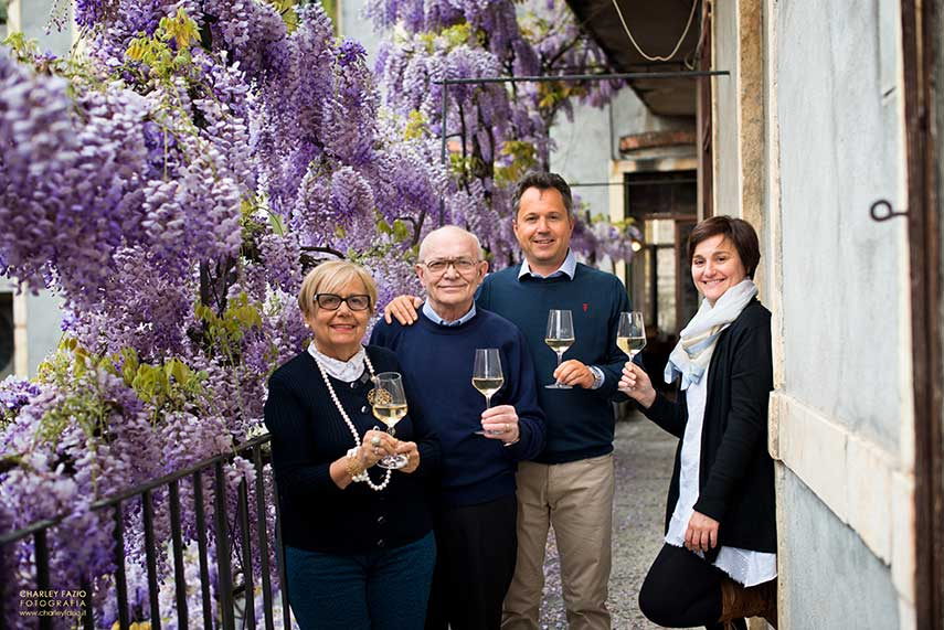 The home of Giovanni and Giuseppe (Beppino) Coffele with son Alberto and daughter Chiara & their magnificent centennial wisteria!