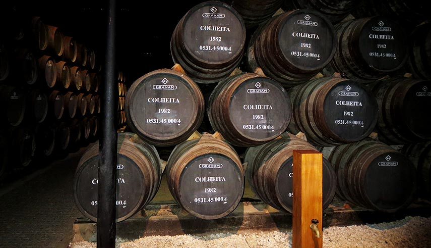 Colheita Barrels in Portugal