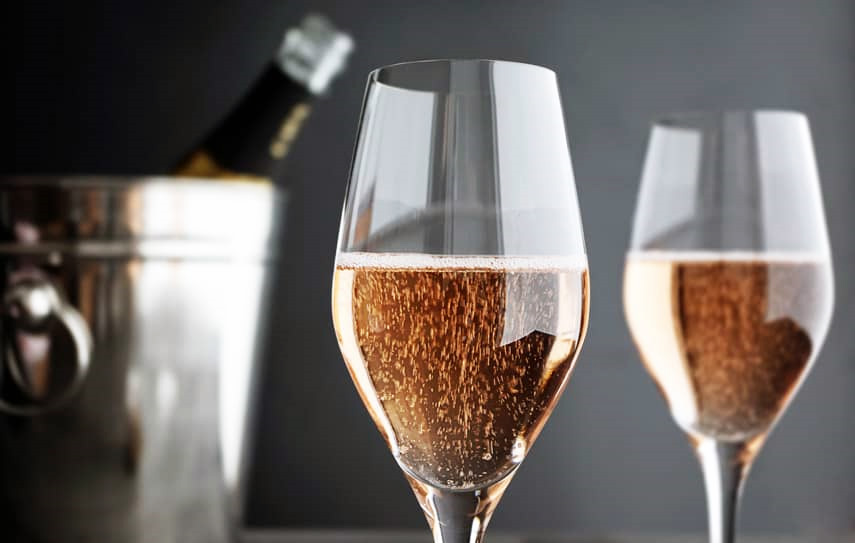 Glasses of Champagne Rosé