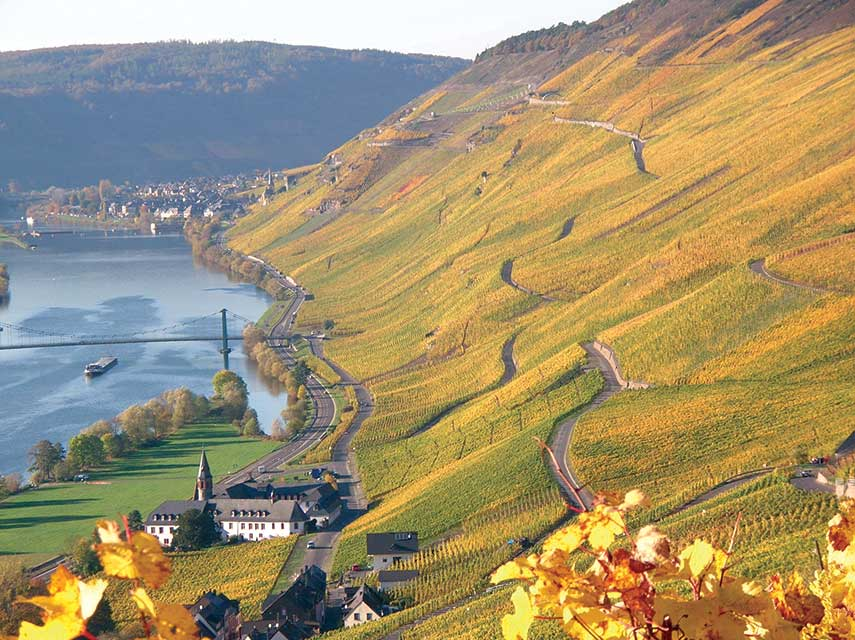 Josephshoefer in the Mosel - one of Kesselstatt's best vineyards