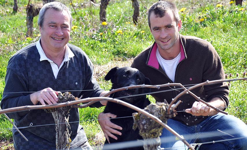 Philippe Teulier and his son Julien_Domaine du Cros_Marcillac