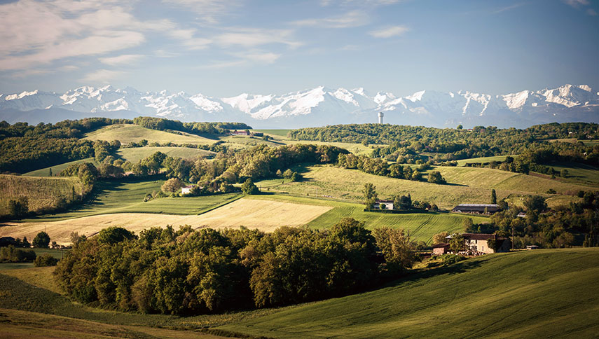 The Gers département is at the heart of the Sud-Ouest with the Pyrenees forming a dramatic backdrop