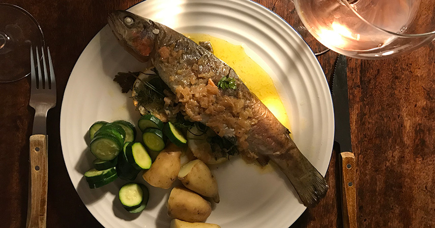 Felicity Cloake's Baked Trout with Beurre Blanc