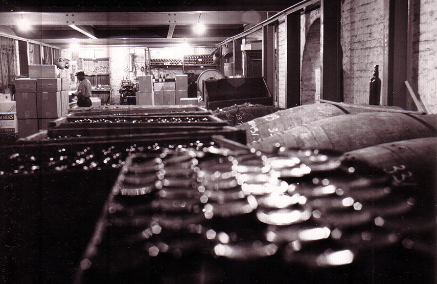 Pipes of Port and butts of sherry waiting to be bottled at our cellars at Joiner St under London Bridge Station