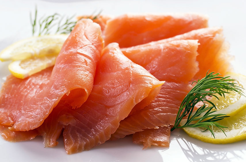 Home-cured lemon-and-lime salmon with dill