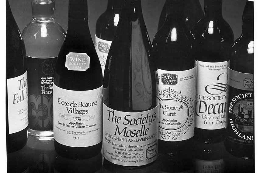 Our range of Society wines expanded in the 70s and 80s to include litre carafes reflecting the increasing demand for inexpensive bottles