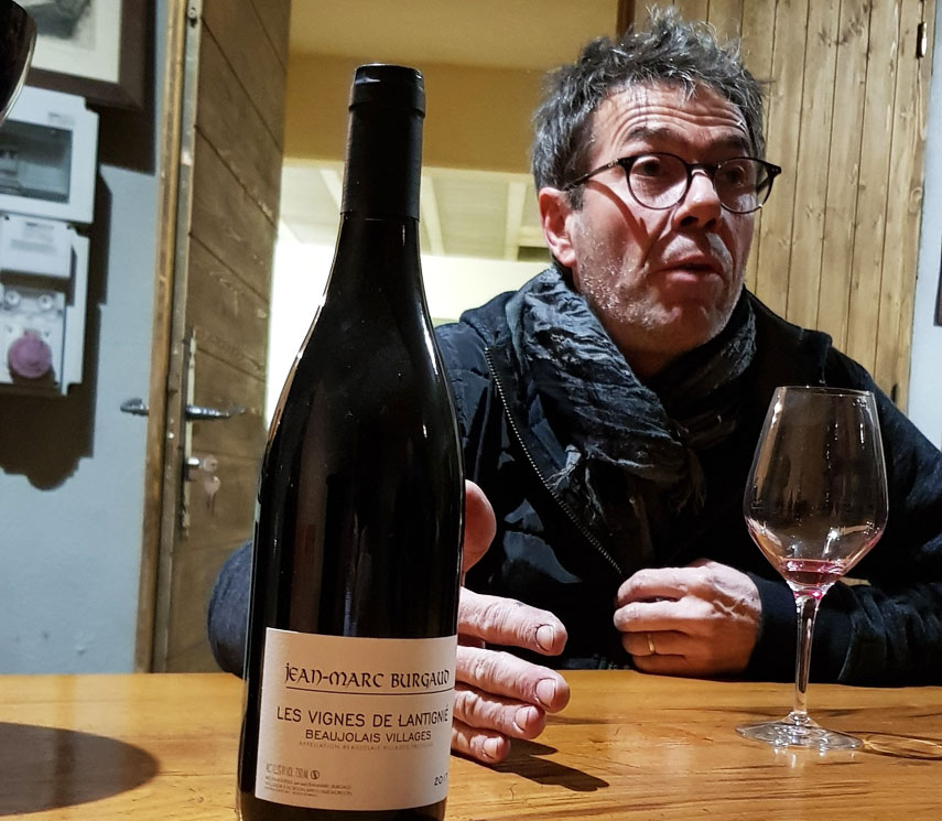 Jean-Marc Burgaud, and his wines, in full flow