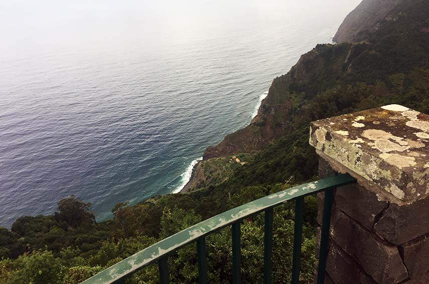Madeira has one of the highest cliffs in the world. Not good if you're scared of heights like me