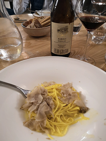 Another good reason to visit at this time of year! The famous white truffles are on practically every menu and complement Barolo beautifully