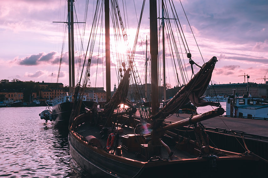 Brighter evenings at Stockholm's Old Town docks