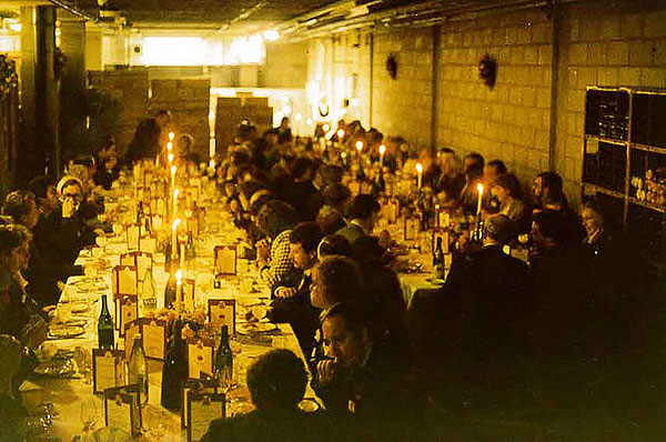 Dinners were held in the new Members' Reserves cellars to celebrate the opening of our new building