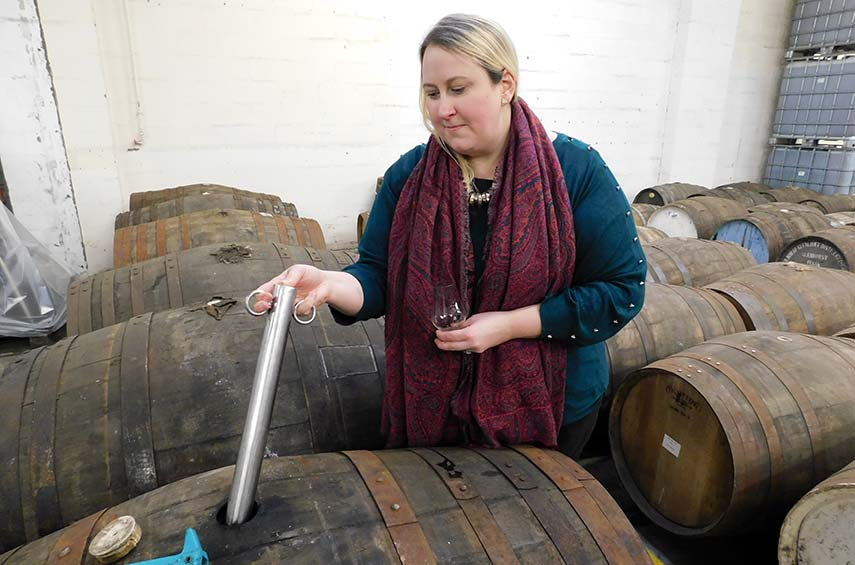 I had the pleasure of examining each and every barrel of whisky