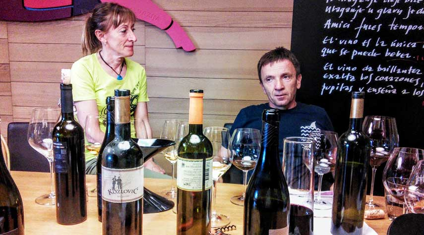 Croatian wine producers, Gianfranco and Antonella Kozlovic