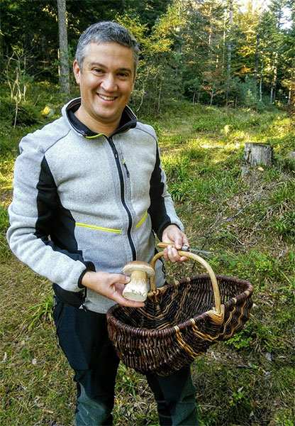 Julien Camus, finder of sizeable ceps!