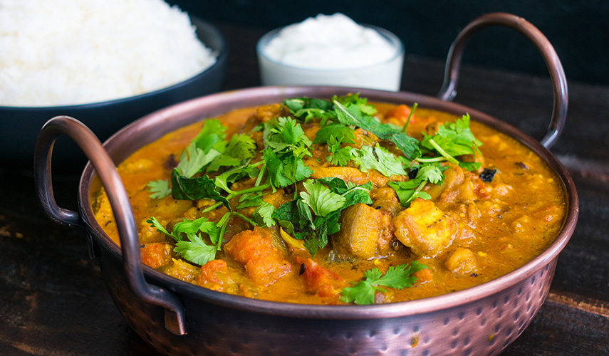 Roasted Vegetable Curry With Yoghurt and Coconut Milk