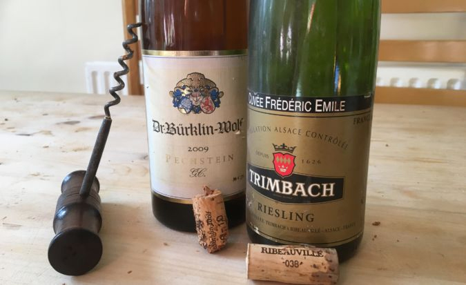 Excellent Rieslings from Trimbach, and – best of all on the night – Bürklin-Wolf